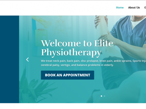 Elite Physiotherapy Website